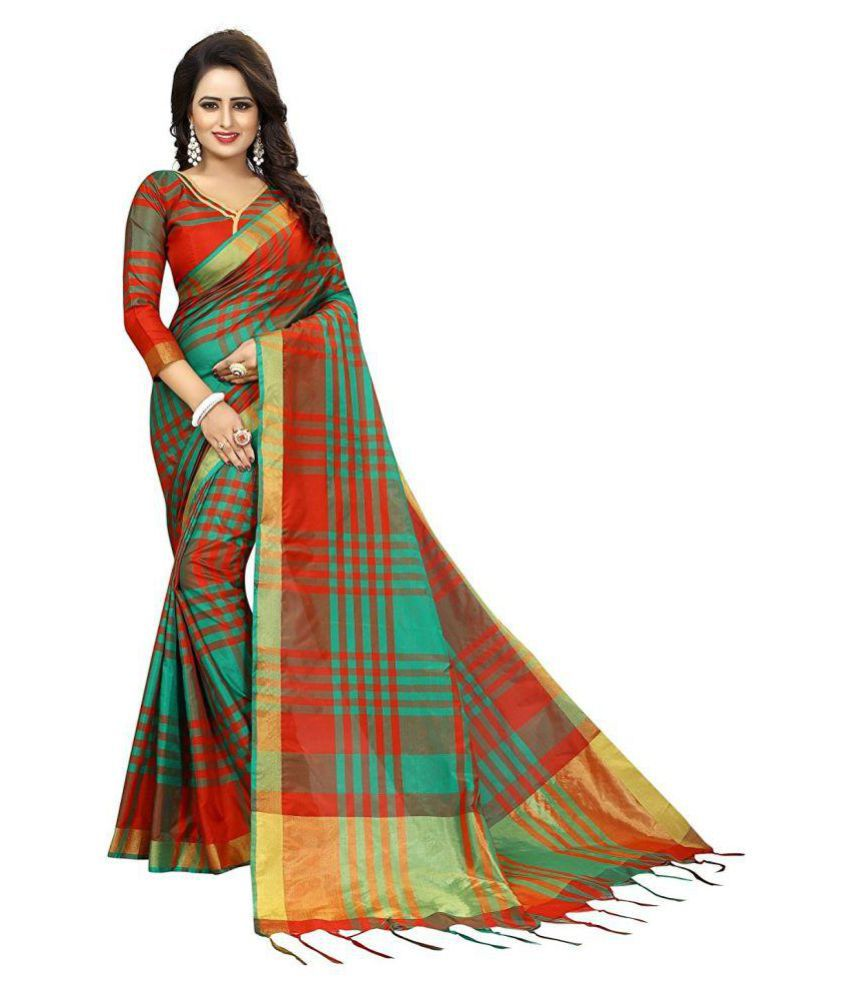 a677afe564 THE DESIGN HUB Green and Brown Uppada Silk Saree - Buy THE DESIGN HUB Green  and Brown Uppada Silk Saree Online at Low Price - Snapdeal.com