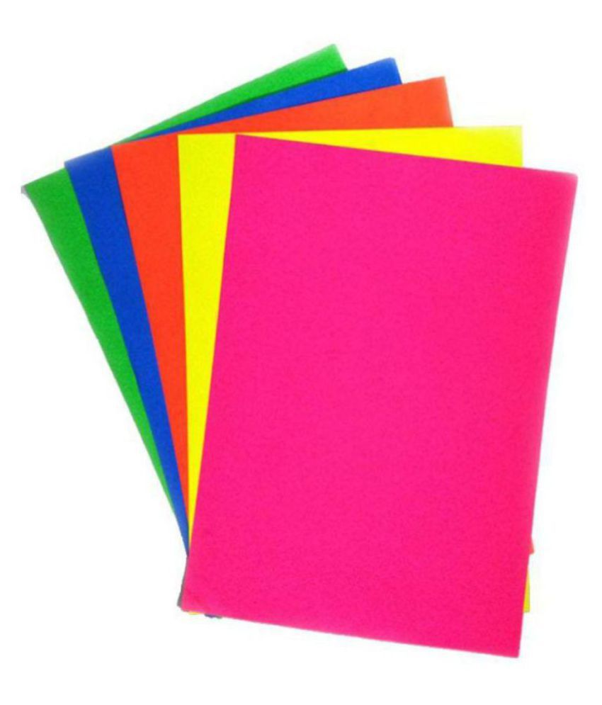 A4 color paper Fluorescent colours Pack of 100 Sheets 5 ...