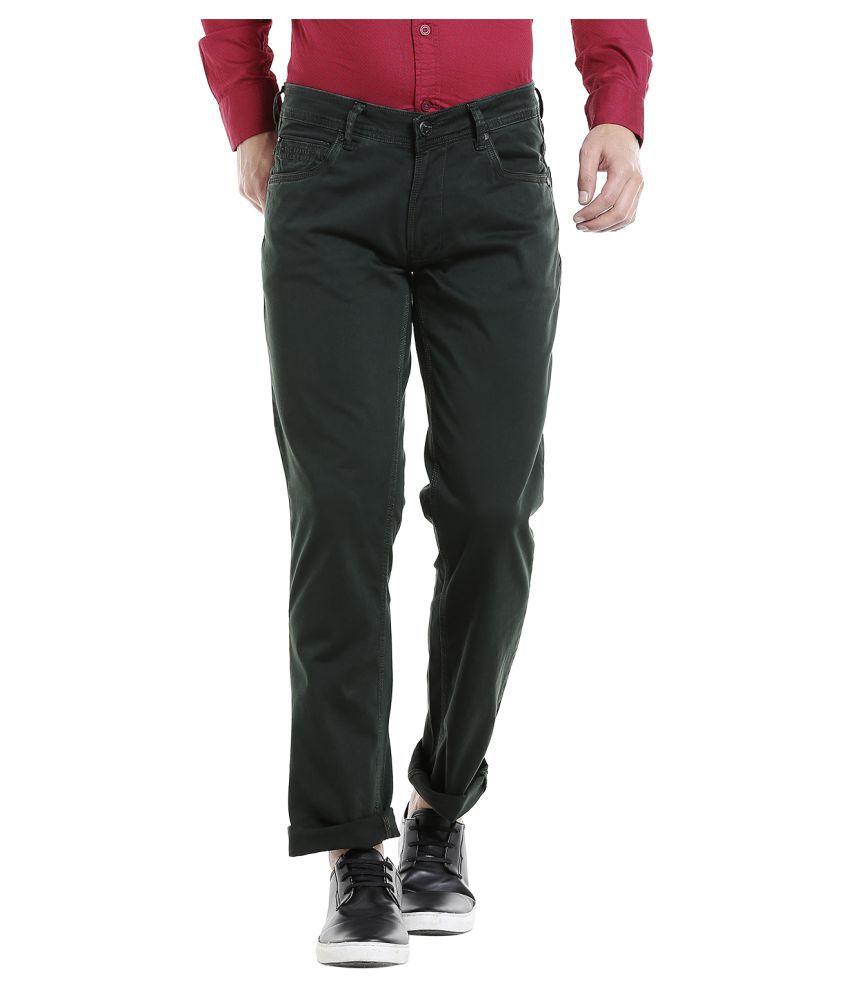 INTEGRITI Green Slim Jeans