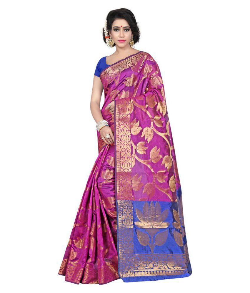 Manvaa Multicoloured Silk Blends Saree
