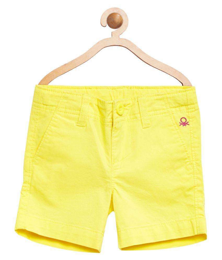 United Colors of Benetton Yellow Basic Long Shorts - 16P4POPC0198I1ADXS