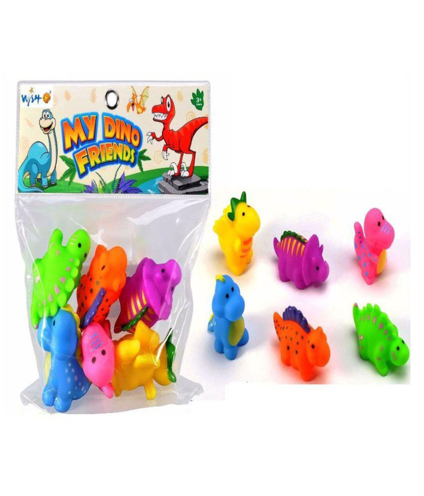 Lovely Dinosaur Animals Colorful Soft Rubber Bath Squirties