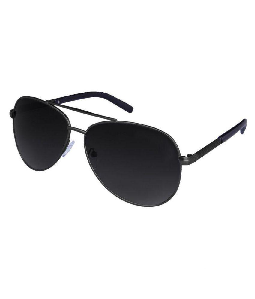 STEPUPP Black Aviator Sunglasses ( 04 )