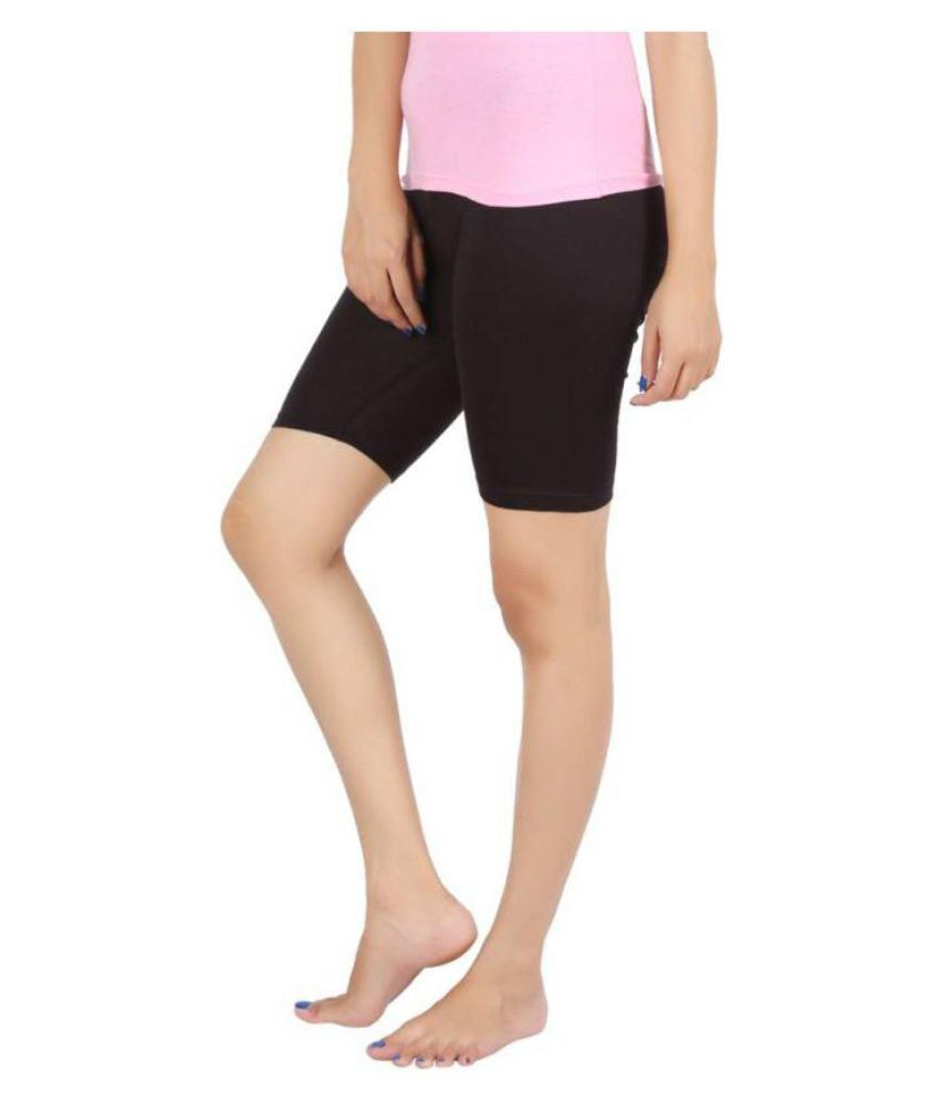 Reenax Half Tight Plain Athletic Fit Multi Sports Cycling, Cricket, Football, Badminton, Gym, Fitness & Other Outdoor Inner Wear For Women