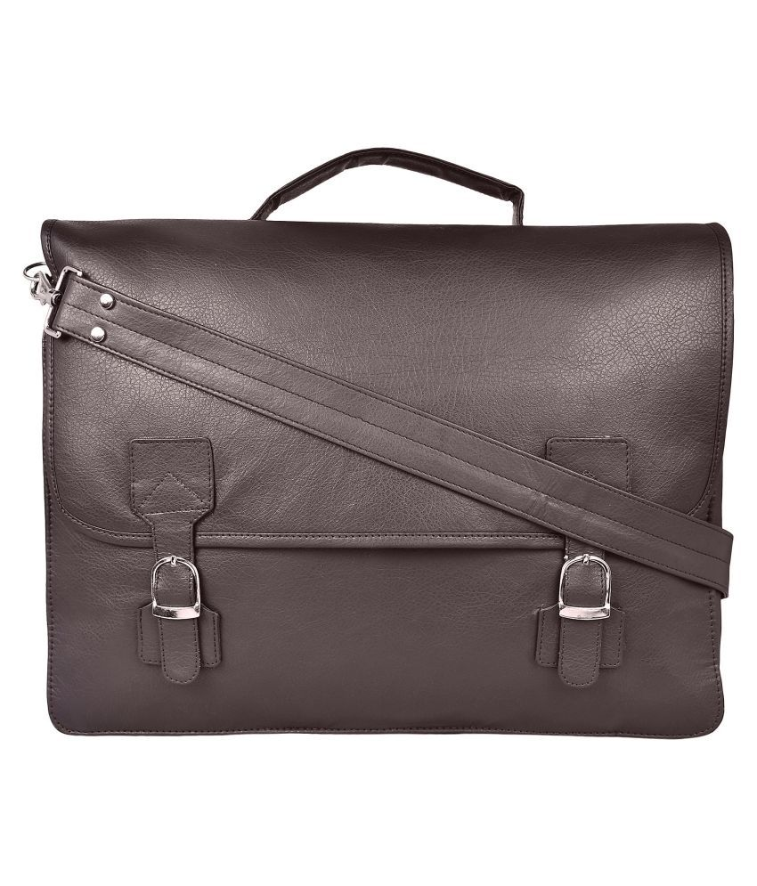 STYLESENSE SS0092 Brown P.U. Office Messenger Bag