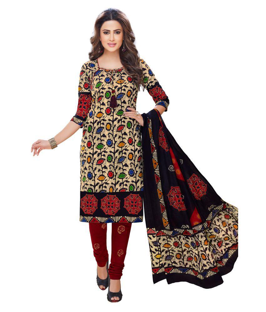 Salwar Studio Multicoloured Cotton Dress Material