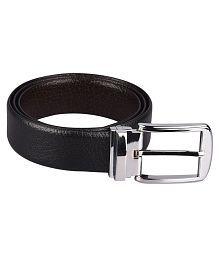 Woodland Imports Black Leather Formal Belts