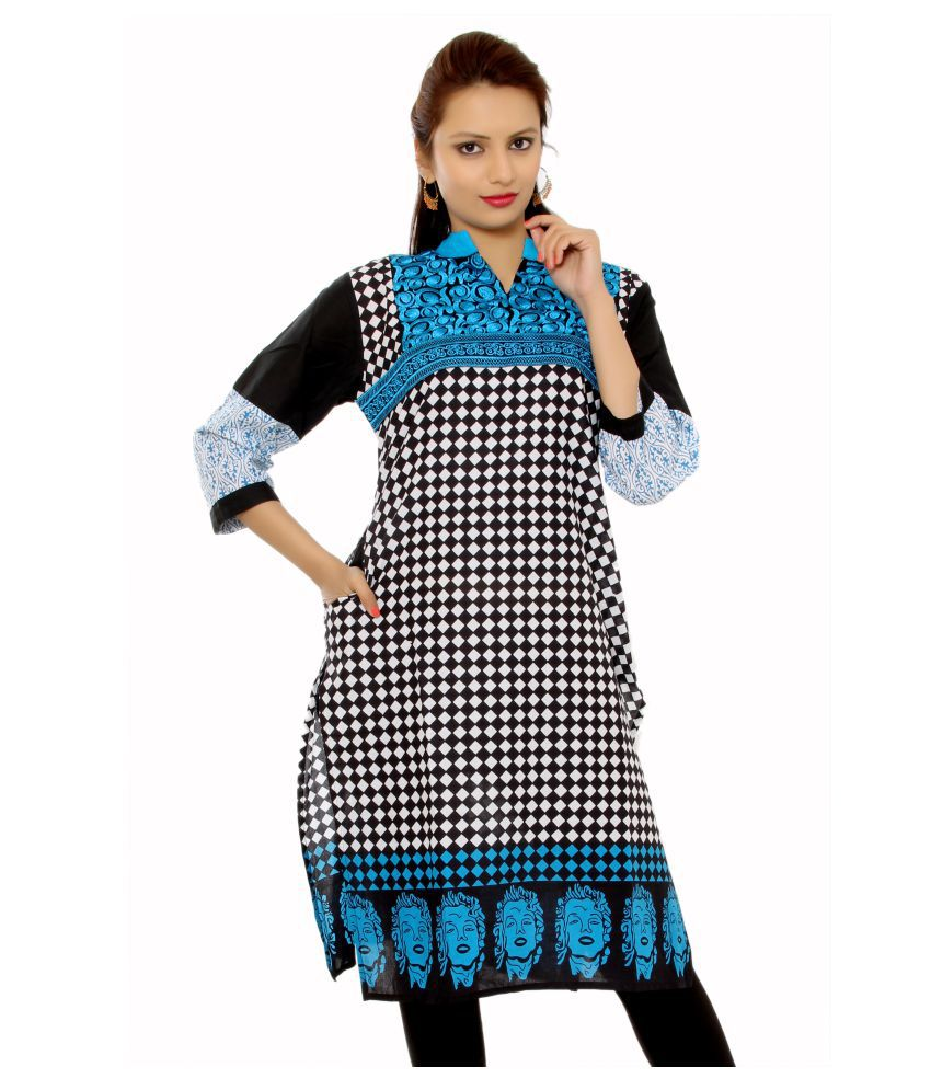 Aakashi Red Cotton A-line Kurti