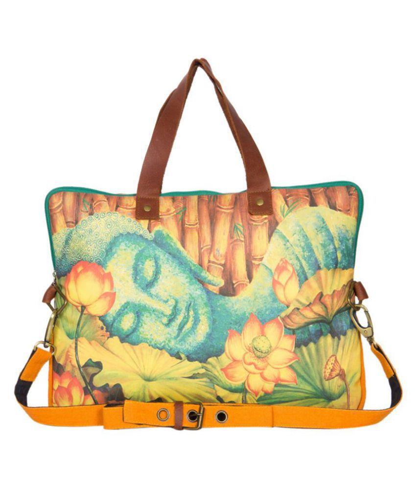 The House Of Tara Yellow Laptop Bags
