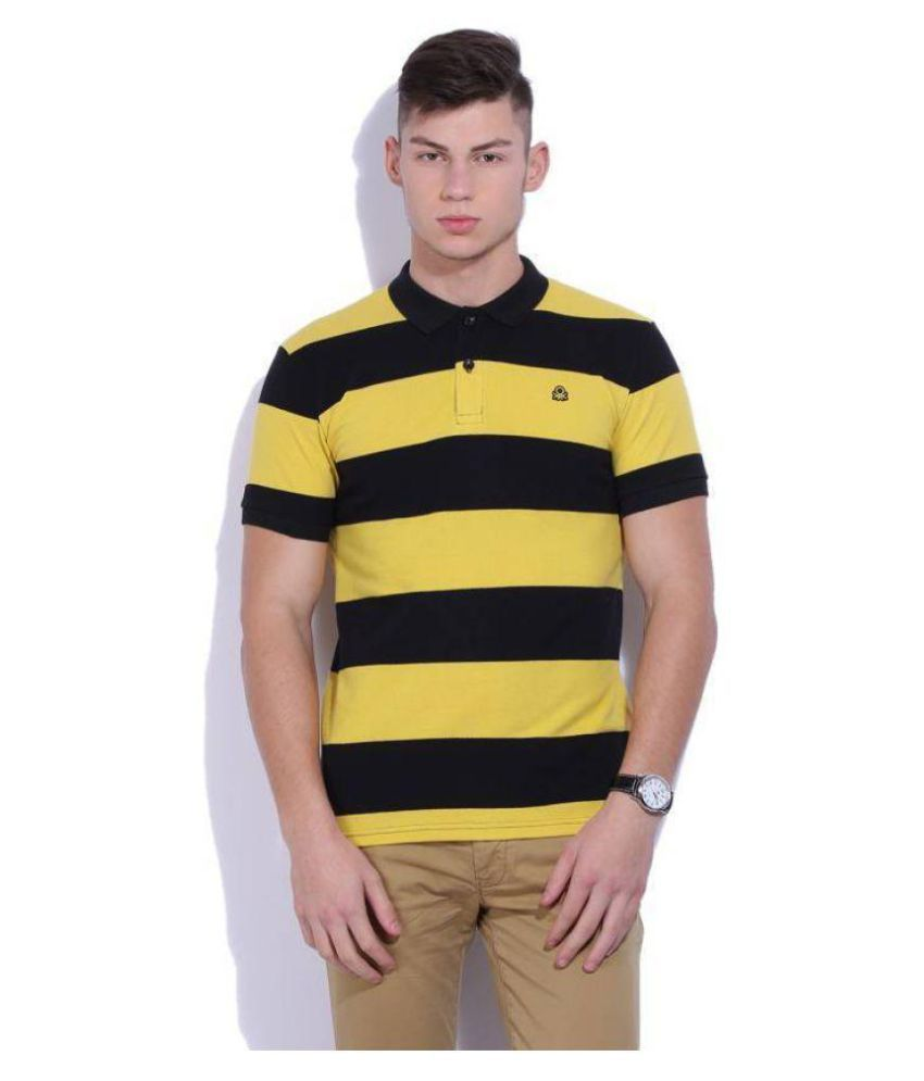United Colors of Benetton Yellow High Neck T-Shirt