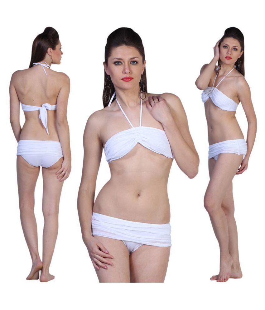 Fascinating Lingerie Synthetic Off White Bikini