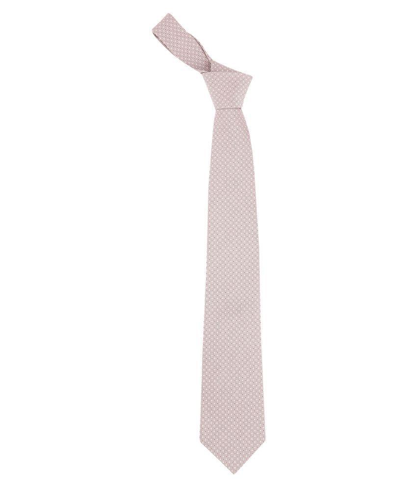 Zido Beige Abstract Satin Necktie
