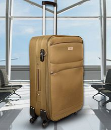 Fly Khaki Small 4 Wheel Cabin Soft Luggage (Below 60cm)