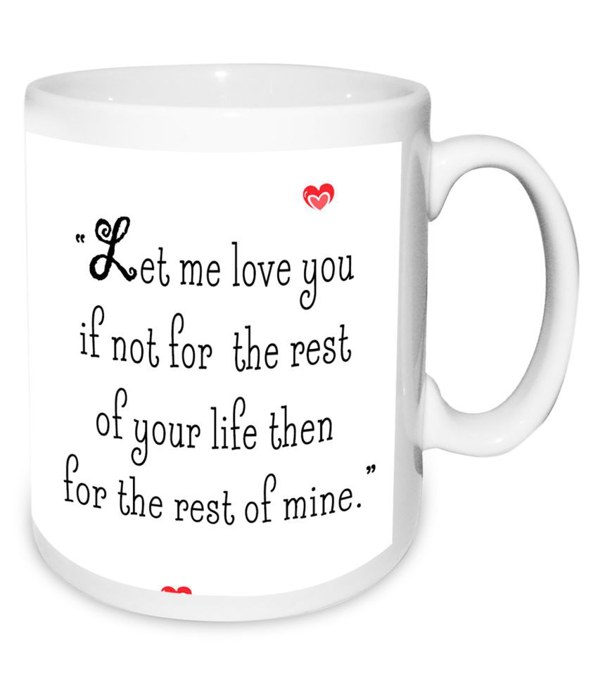 Happy Propose Day Valentines Day Mug With 1 Rose & Red