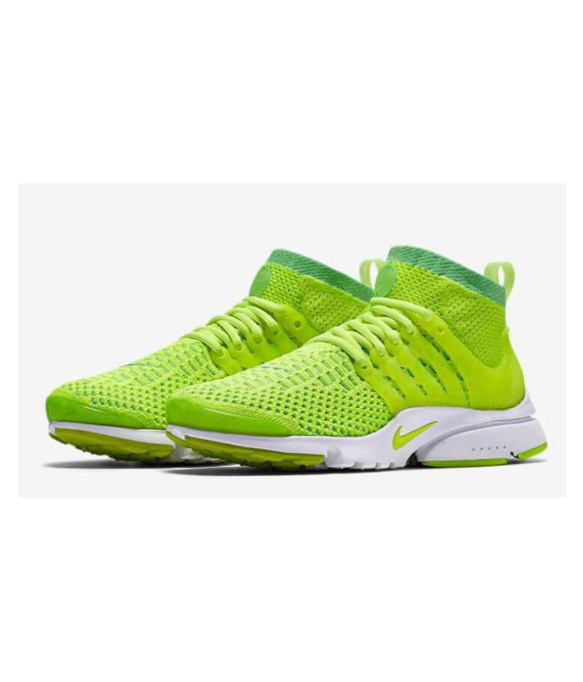 premium selection 9e997 c2fdc ... Nike Air presto Ultra Flyknit Green Running Shoes ...