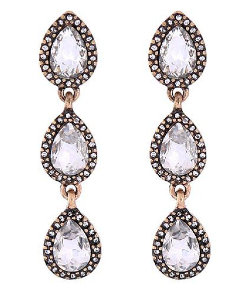 Bling Style Agua Drop Earrings
