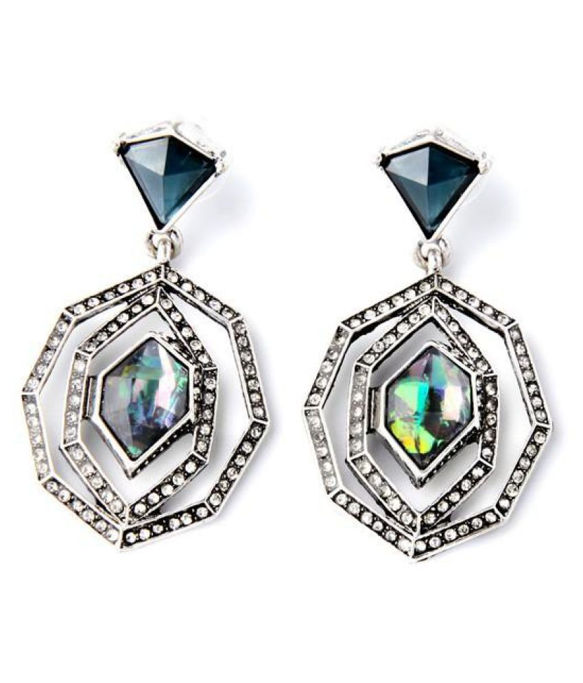 Bling Style Geometric Statement Earrings