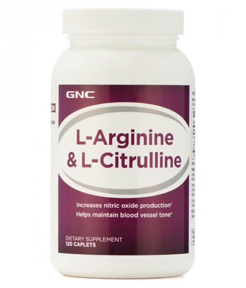 GNC L Arginine And Citrulline Caplet 120 no.s
