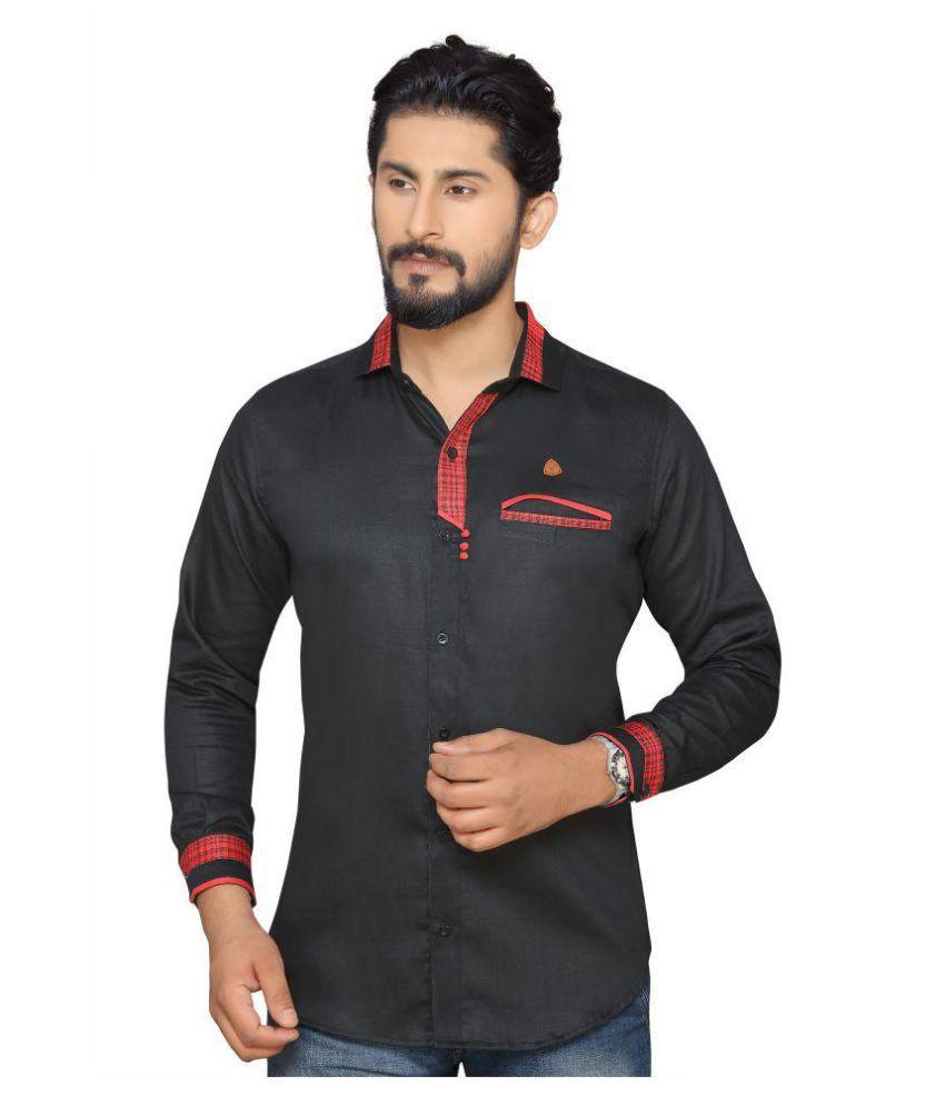 PP Shirts Black Regular Fit Shirt