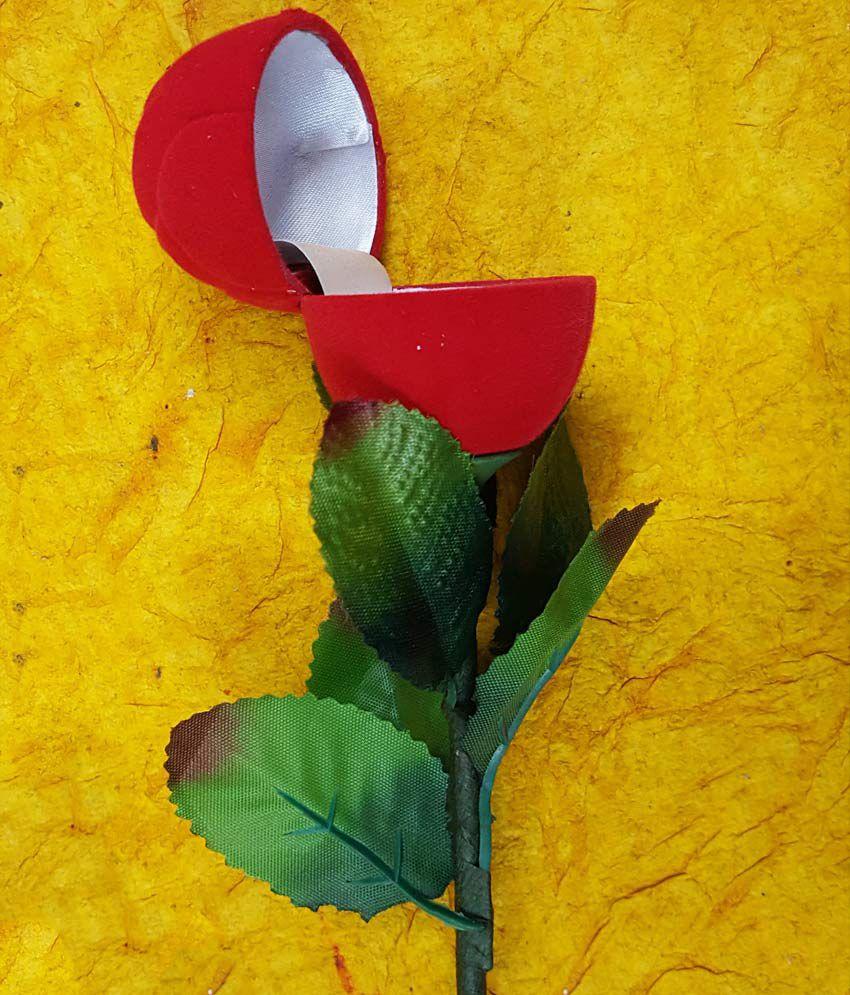 Angel Red Rose Velvet Ring Box