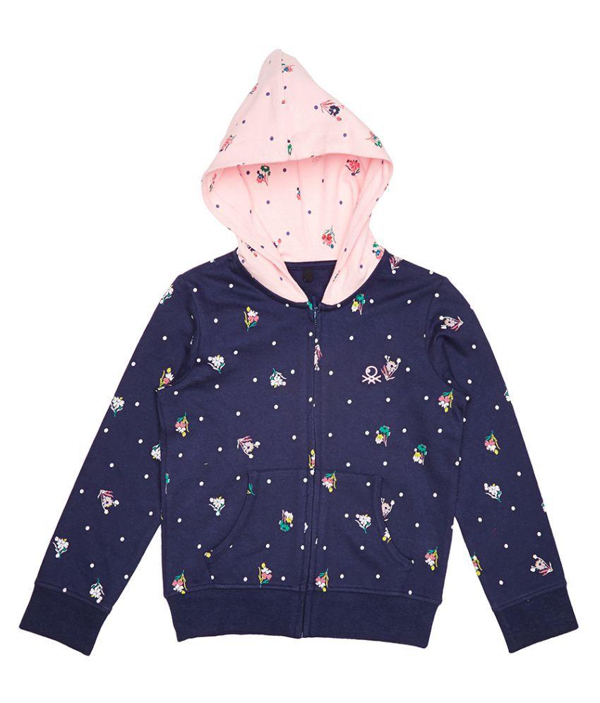 United Colors of Benetton Printed Hoodie Sweatshirt - 16A3096C0086IK32S