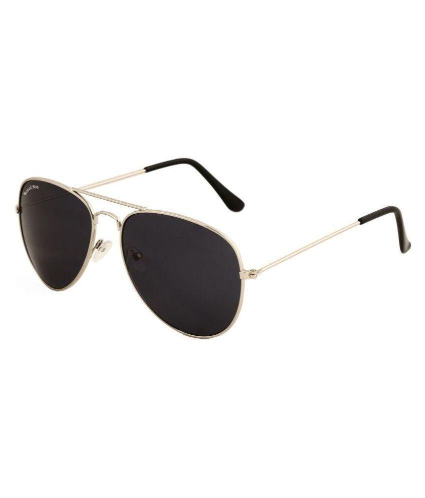 Royal Son Black Aviator Sunglasses ( RS007AV )