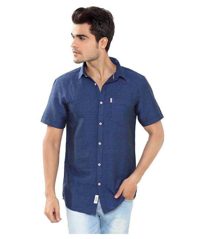 360 Degree Blue Regular Fit Shirt