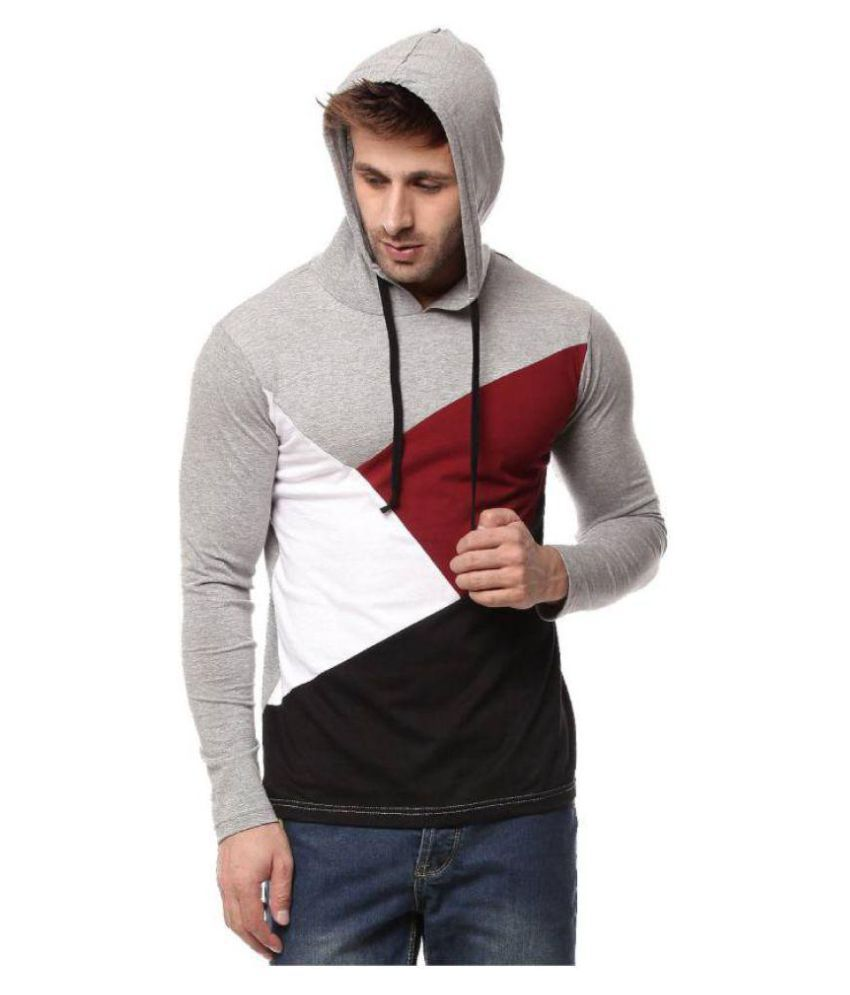 Cenizas Grey Hooded T-Shirt