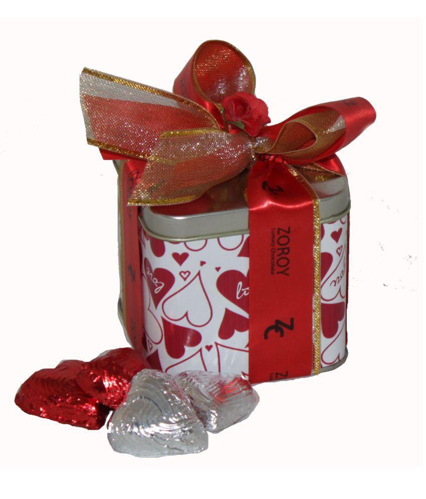 Zoroy Luxury Chocolate Valentine's Day Chocolate Tin valentines day Love Gift 175 gm