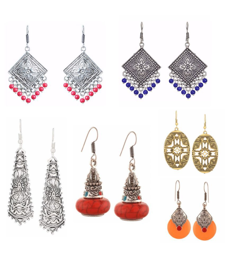 Archi Collection Jewellery Combo Designer Fancy Party Wear Dangler Earrings for Girls and Women