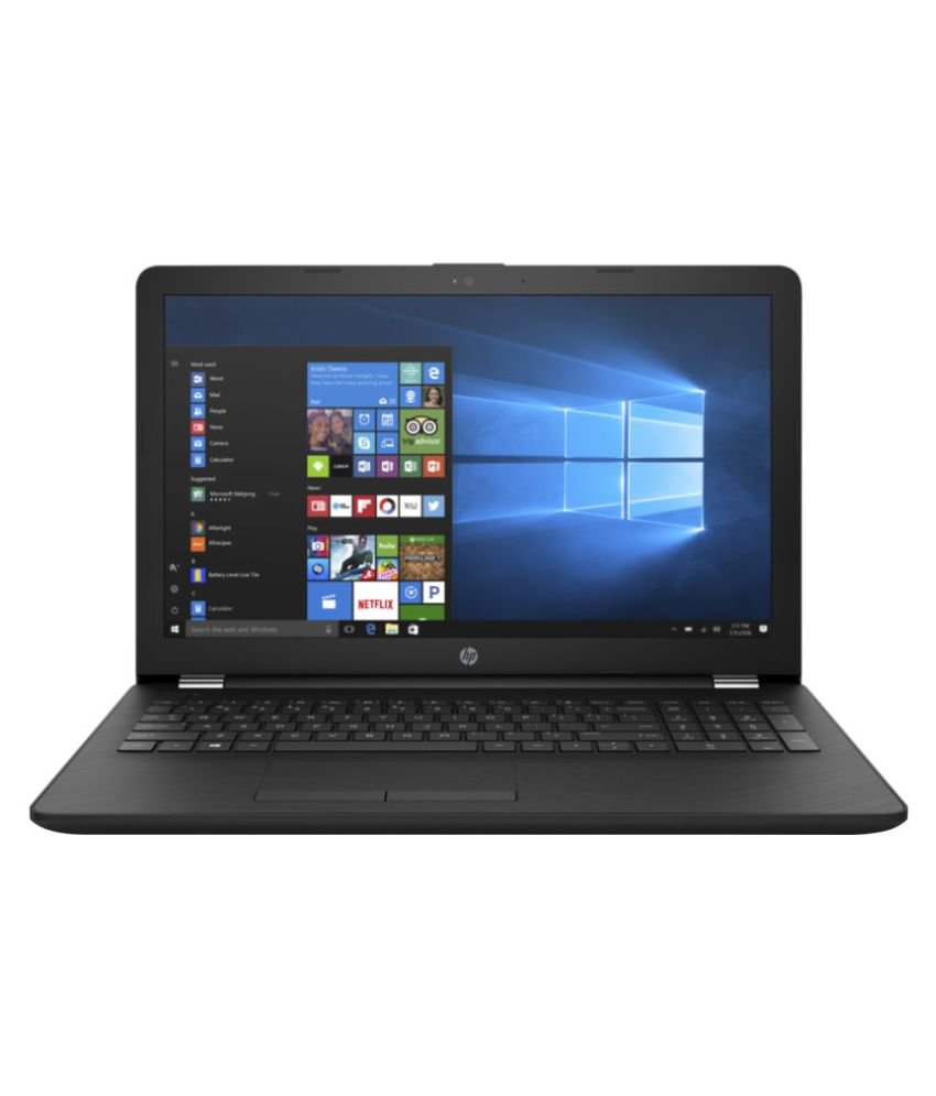 HP 15 15-bs618tu Notebook Core i3 (6th Generation) 4 GB 39.62cm(15.6) Windows 10 Home without MS Office Not Applicable Black