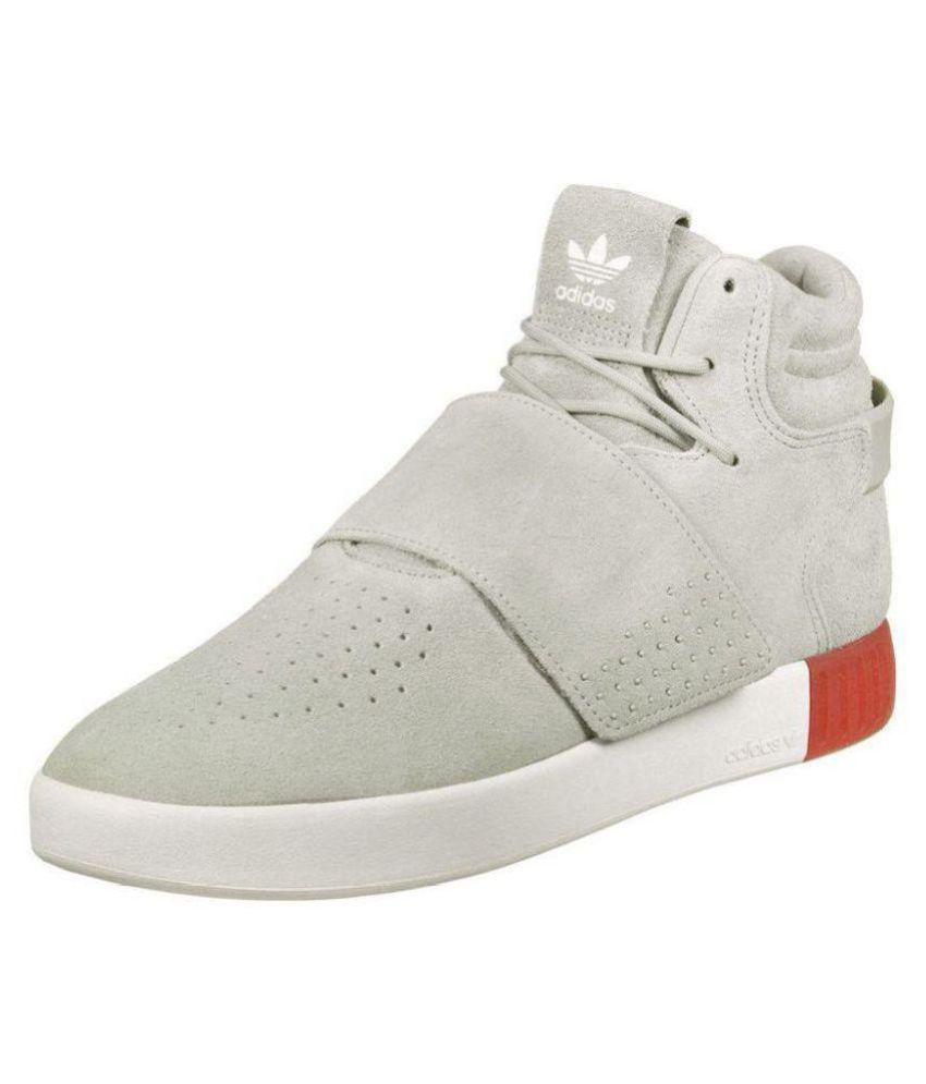 Adidas Tubular Invader Gray Running Shoes - Buy Adidas