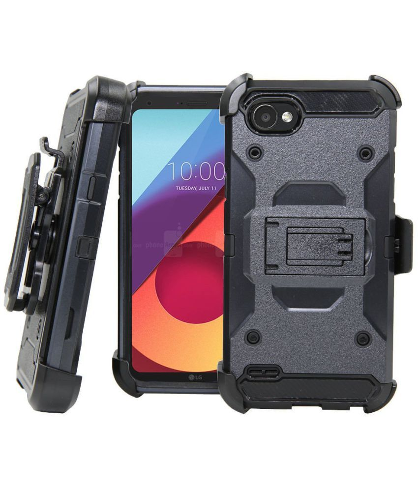 0ee0b019b LG Q6 Plus Holster Cover by ZIAON - Black - Holsters Online at Low Prices