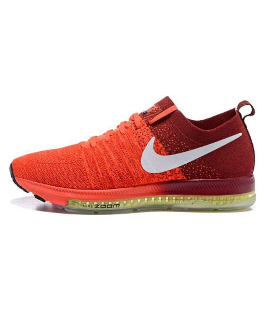 Nike 2017 ZOOM ALL OUT Orange Running Shoes ...