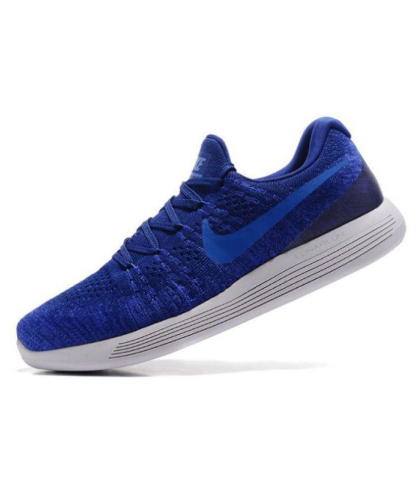 sneakers new styles new high quality Nike LUNAREPIC LOW FLYKNIT 2 Blue Running Shoes