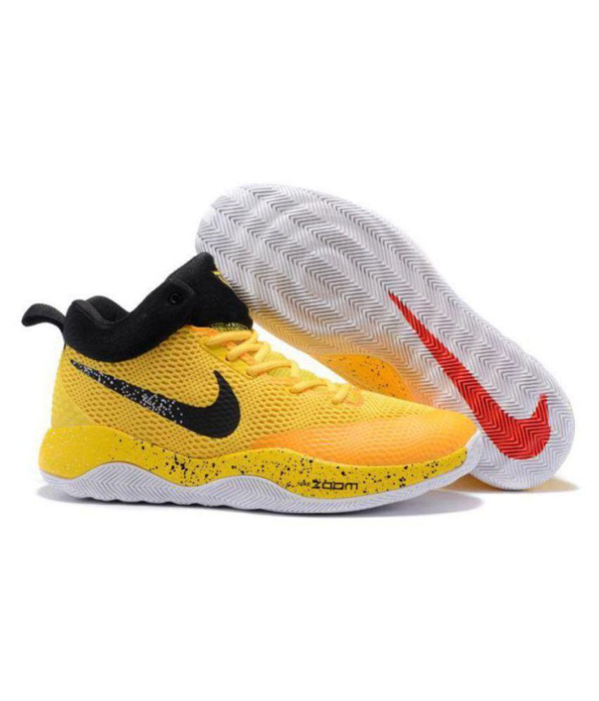 official photos f4675 1a1b0 ... Nike ZOOM REV EP Limited Edd Yellow Basketball Shoes ...