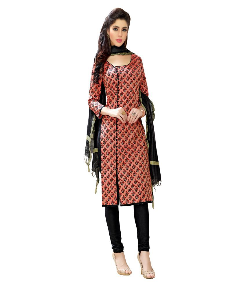 MINU Red Cotton Straight Stitched Suit