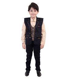 Arshia Fashions Boys Shirt Waistcoat and Pant Set Party wear