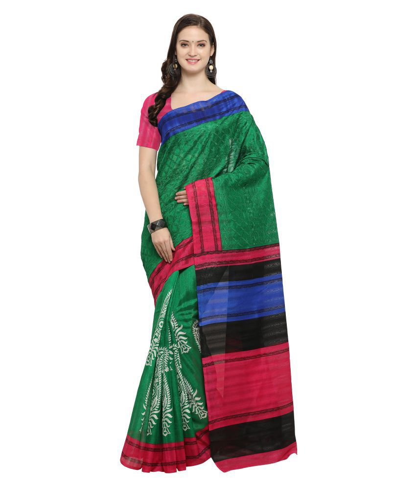 Rachna Multicoloured Bhagalpuri Silk Saree