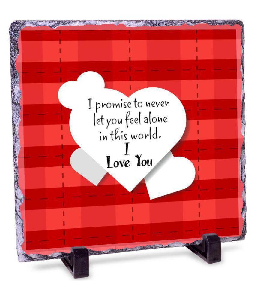 I Love You Valentines Day Rock Tile Frame Buy Online At Best Price