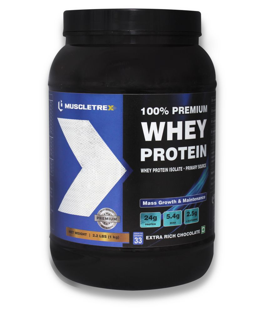 Muscletrex 100% Whey Protein, Extra Rich Chocolate 1 kg
