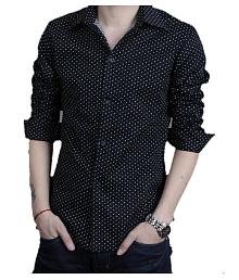 Tom T Black Regular Fit Shirt