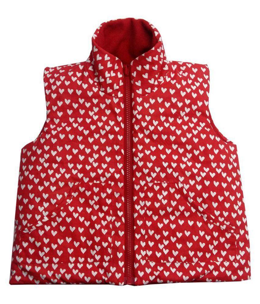 Girls Red wool Jacket