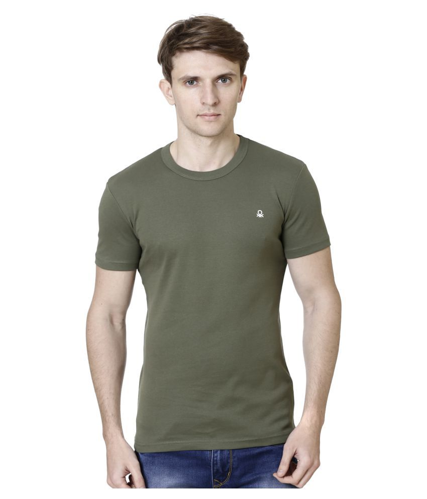 United Colors of Benetton Green Round T-Shirt Pack of 1