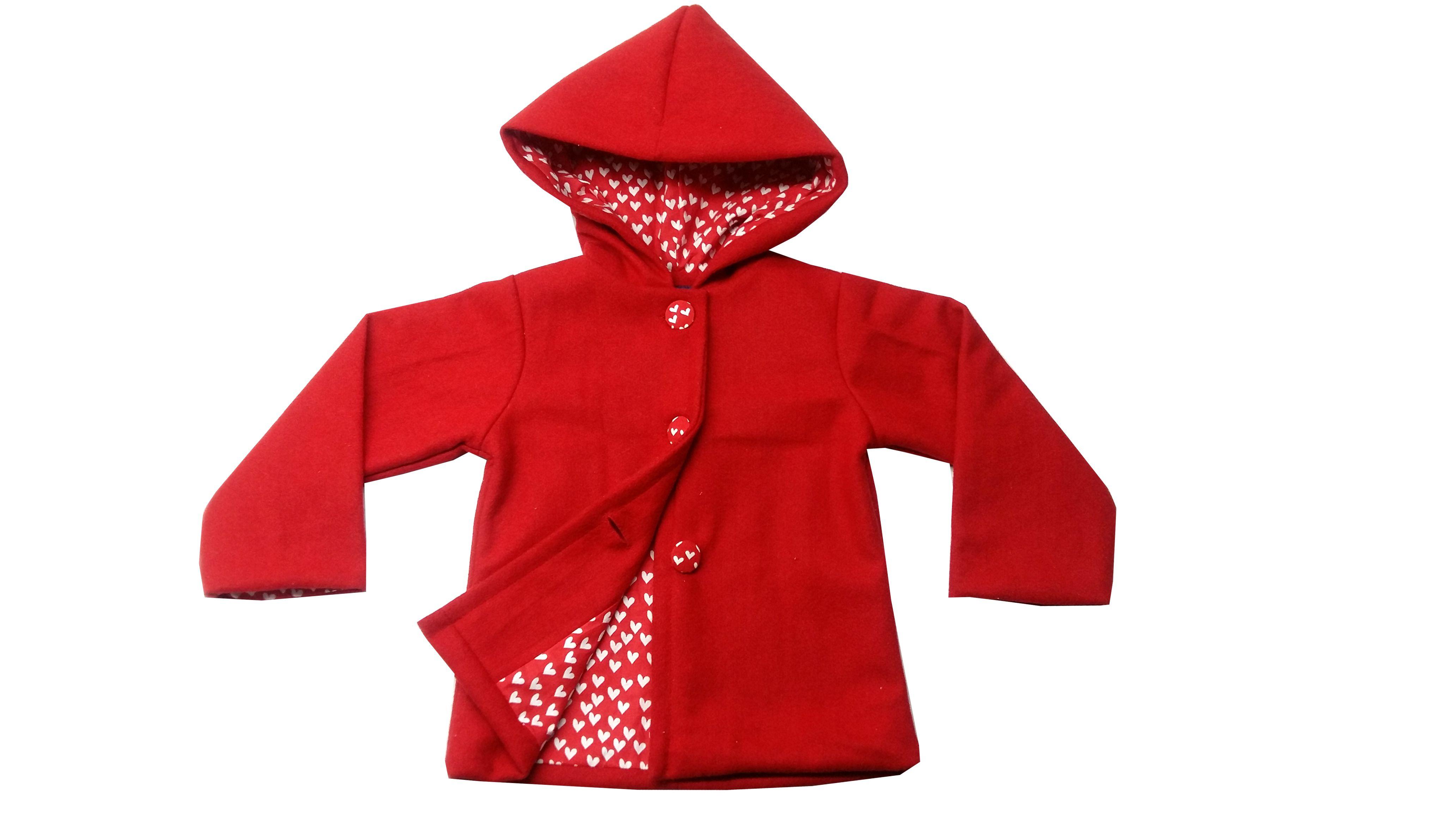 Always Kids Red Hooded Emma Coat