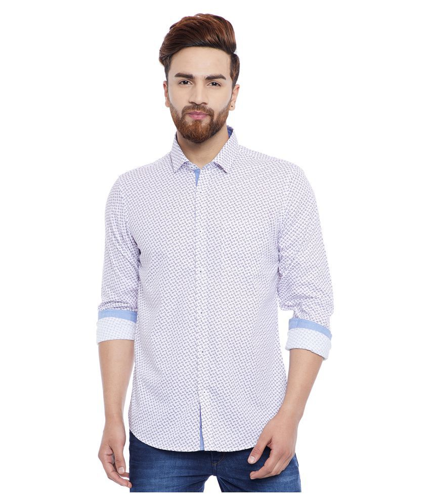 Canary London Purple Slim Fit Shirt
