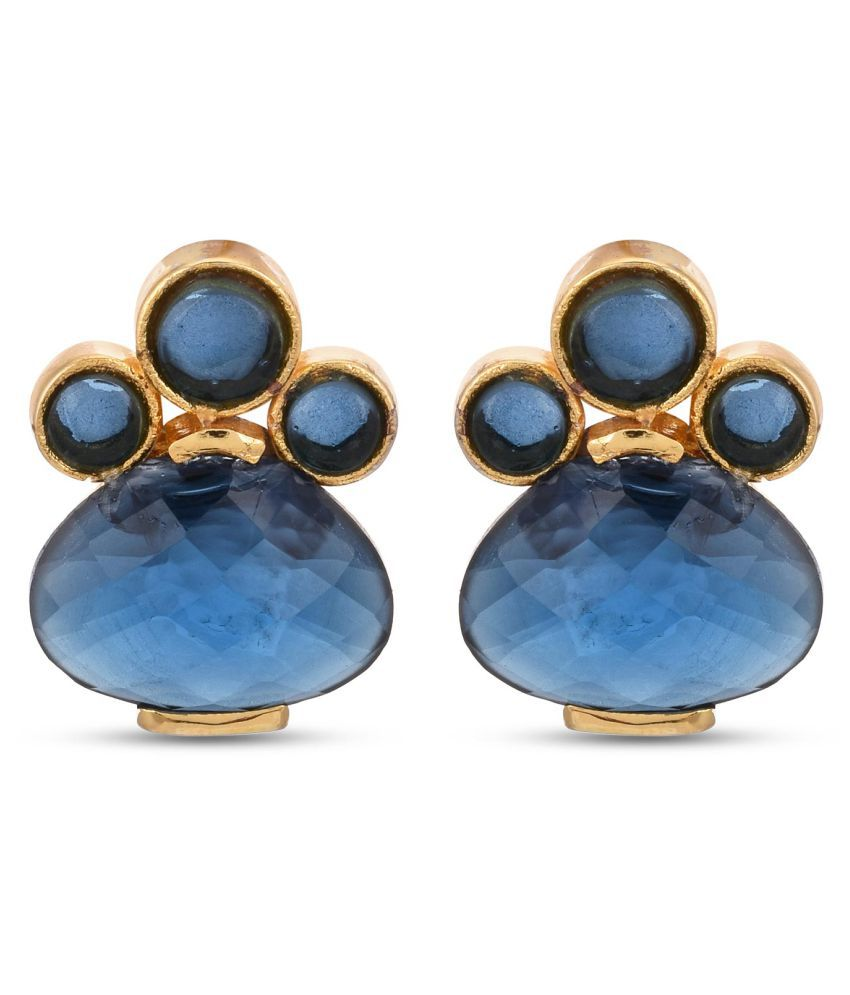 Tistabene Contemporary Colored Stone Latest Trendy Party Wear Stud For Women and Girls (ER-3226)