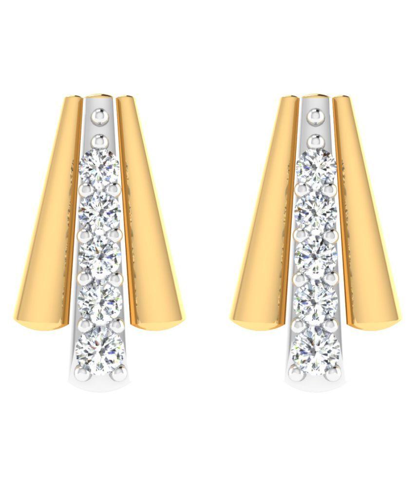His & Her 18k BIS Hallmarked Yellow Gold Diamond Studs