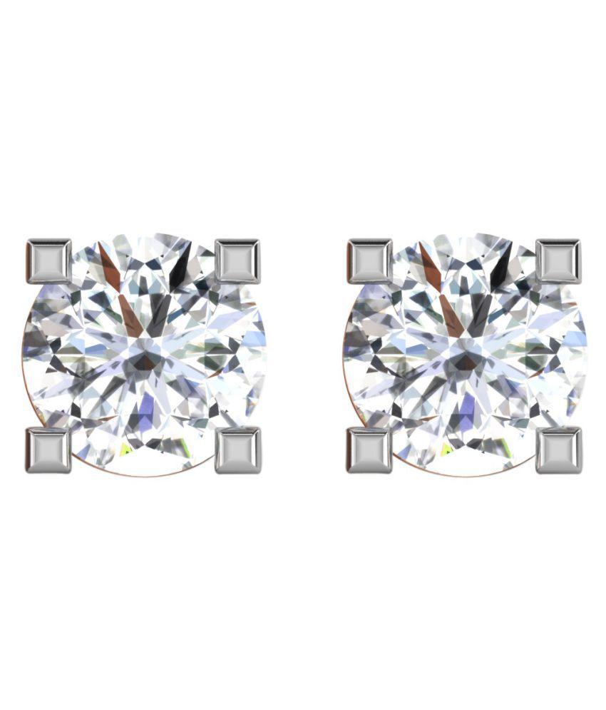 His & Her 18k BIS Hallmarked Rose Gold Diamond Studs