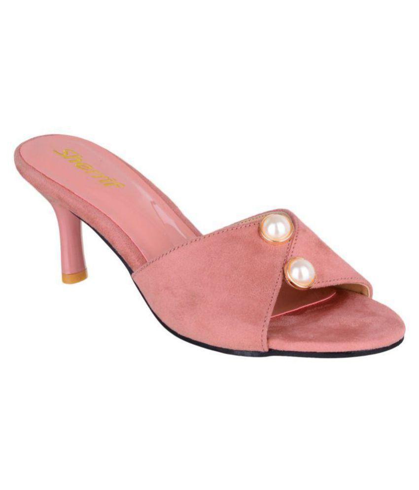 SHERRIF SHOES Pink Kitten Heels